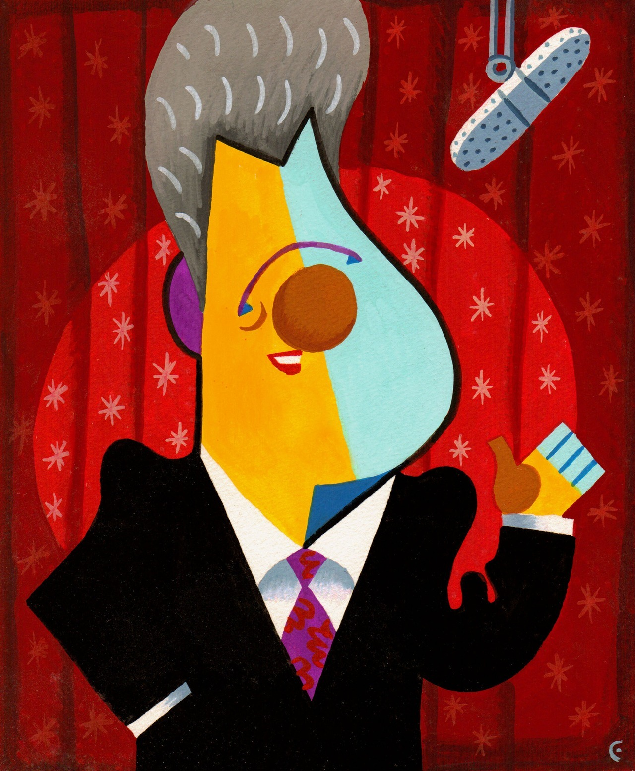 davidcowlesillustrations:  Happy Birthday, Bill Clinton