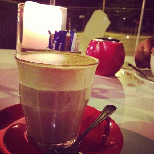 #coffee by #candlelight. With @o_tothe_shay and @jimbobbi. =]. #cafe #cafeculture #beverage #food #foodporn #latte #beach #coast #ig #instagood #instralia #igerssydney #instagramhub #iphoneography #filter #amaro #cup #sugar #northernbeaches (Taken with Instagram at Wildwater Grill)