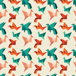 Teal paper cranes Art Print by Nicole Martinez | Society6