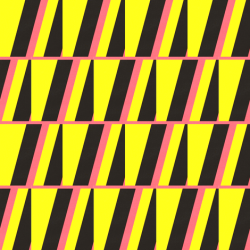 Leda Yellow, Pink & Black fabric by stoflab at Spoonflower - custom fabric