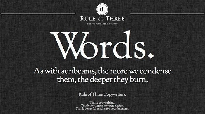 Rule of Three - Copywriters of Distinction