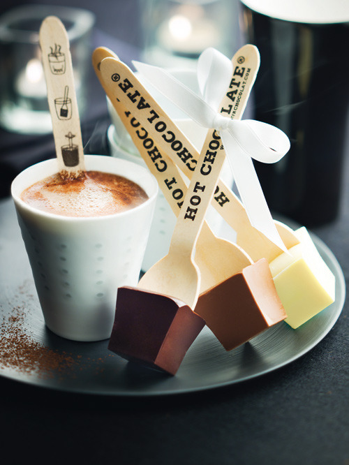 Hot Chocolate on a stick (via Votre Maison Votre Jardin)
