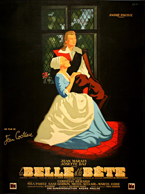French poster for LA BELLE ET LA BÊTE (Jean Cocteau, France, 1946) Artist: unknown Poster source: WalterFilm