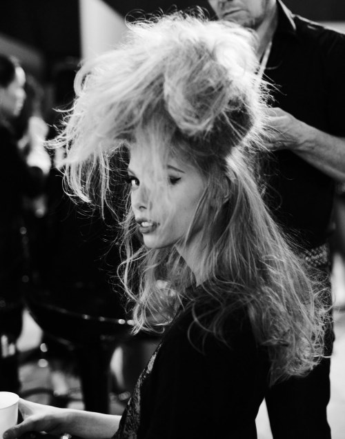 somethingvain:  dior cruise 2010, tanya dziahileva backstage