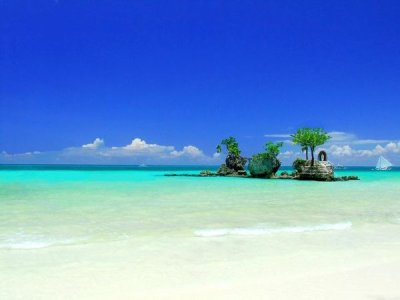 The beautiful island of Boracay in Aklan