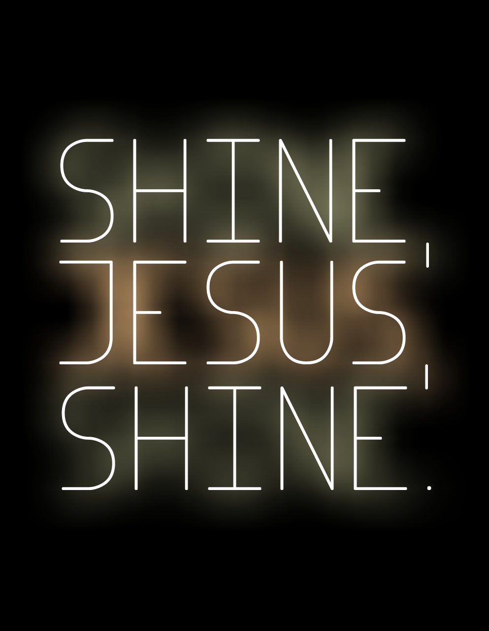 Shine, Jesus, shine, fill this land with the Father's gloryBlaze, Spirit, blaze, set our hearts on fireFlow, river, flow, flood the nations with grace and mercySend forth Your Word Lord, and let there be light. (Graham Kendrick)