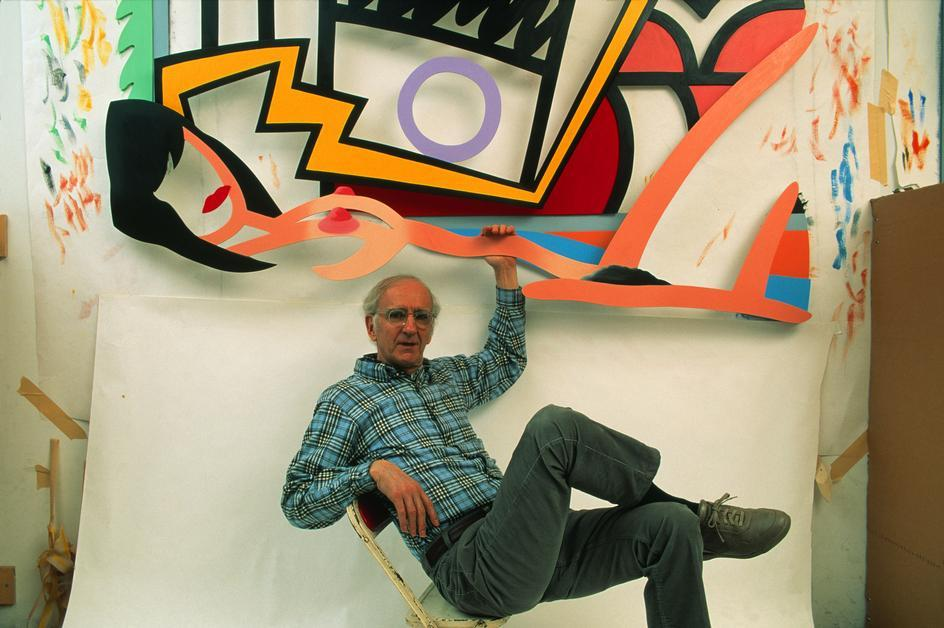 Pop artist Tom Wesselmann his Bowery Studio, 1992. Photo by Thomas Hoepker
