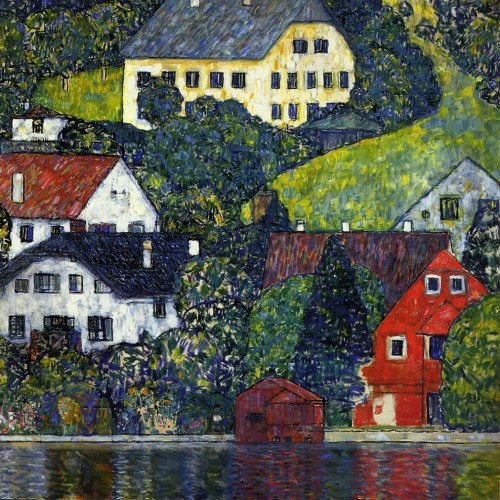 Gustav Klimt- Houses at Unterach on the Attersee (c. 1916)