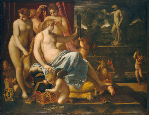 miscellaneous-art:  Annibale Carracci, Venus Adorned by the Graces, 1590-1595. National Gallery of Art.