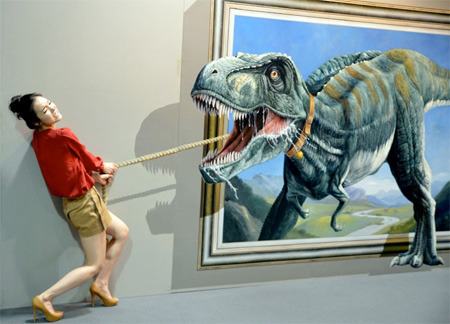 Interactive 3D Art. Made by South Korean Artists, Displayed in Hangzhou, China.