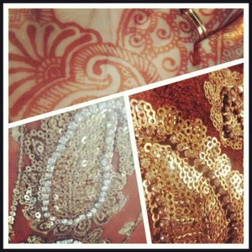 #eid #ootd #sequins #rhinestones #bling #mehndi #henna #pakistani #clothes (Taken with Instagram)