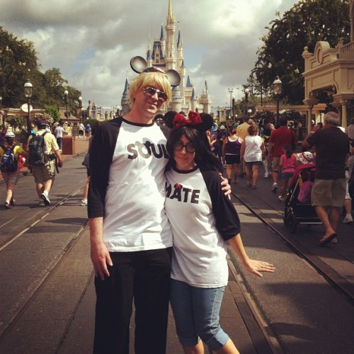 Soulmates at Disney!  (Taken with Instagram)