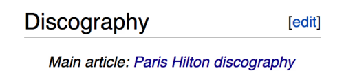 "I hope someday I will have a ""discography"" section on my Wiki page."