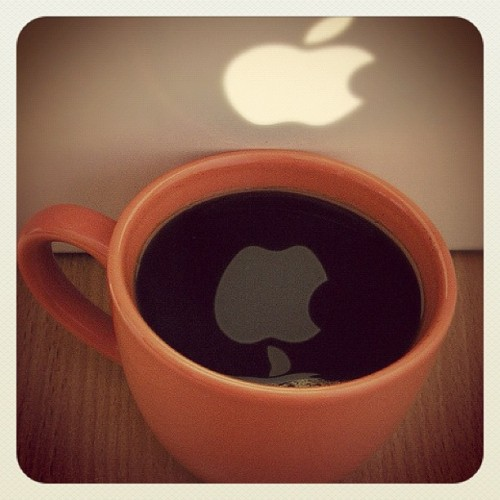 Apple in my coffee. (Taken with Instagram)