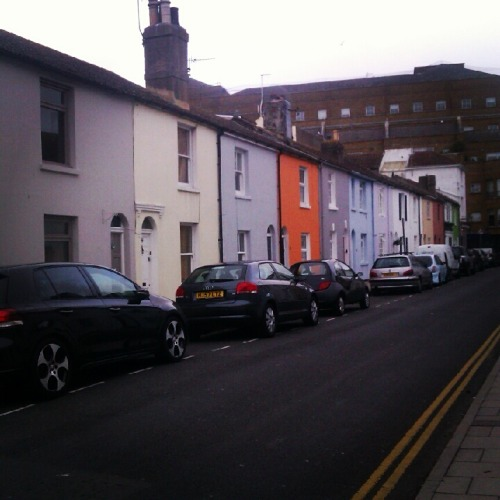 One of the most colorful streets in Brighton!