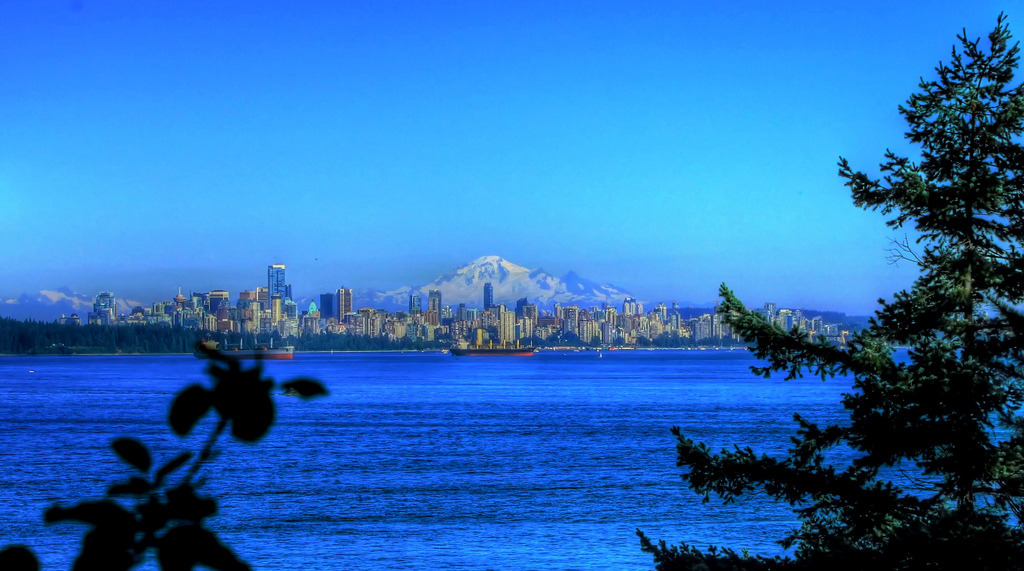 View of Downtown Vancouver from Lighthouse Park (by Wynonna)
