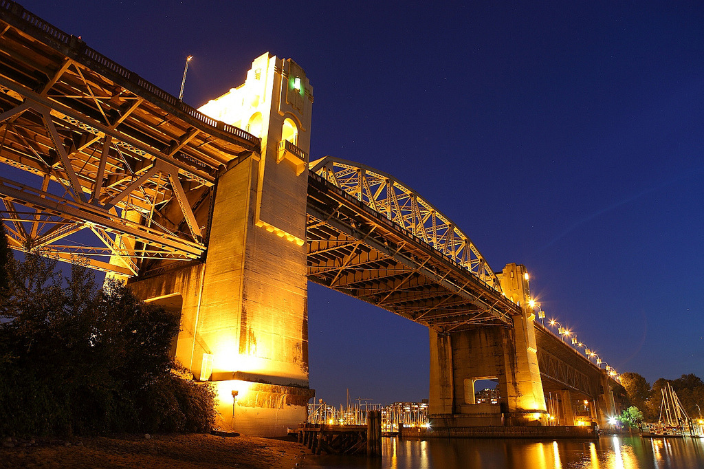 ohmyvancouver:  Burrard Bridge, Vancouver. (by Hugh (Vancouver and Whistler dot com))