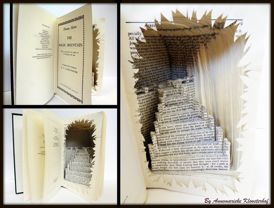 solentiname:  Book Art nr3: Stairs for Improvement. by ~Rose-Ann-Mary-K