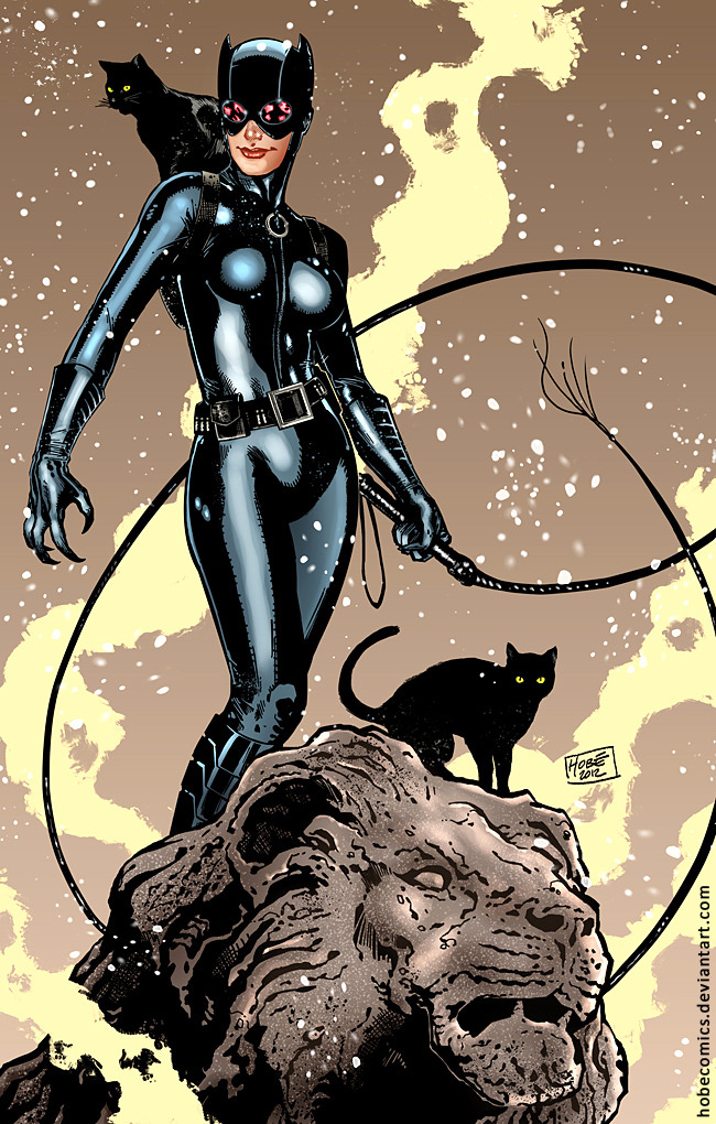 comicsforever:  Catwoman // artwork by Hobecomics (2012)