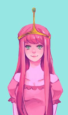 Adventure Time Princess Bubblegum fan art flame princess