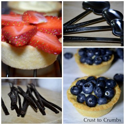 Tartlets, Vanilla Beans, 'Love' Measuring Spoons and Tartlets <3