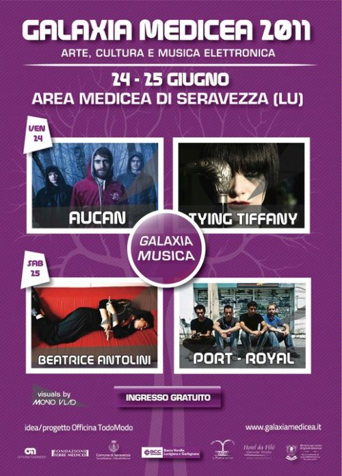 24 / 25 June 2011 - VJing for Galaxia Medicea Festival (Serravezza, Italy)