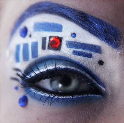 R2-D2 Eyeshadow if i could get away ith it id consider wearing it…