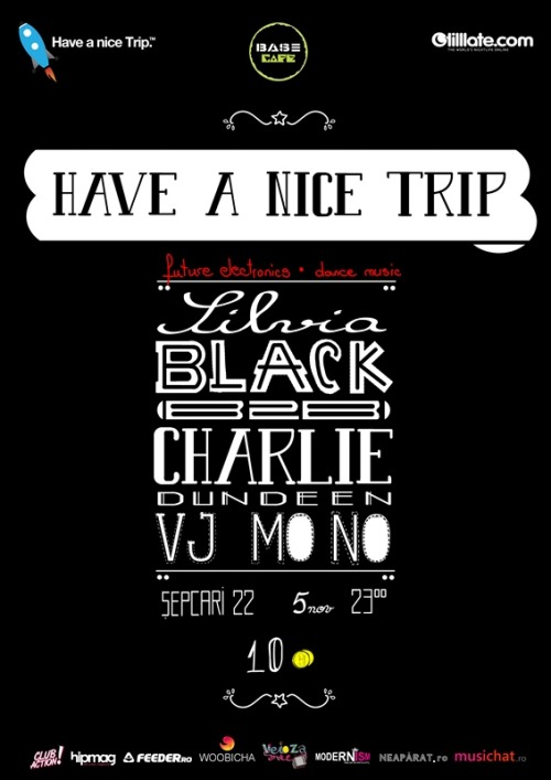 5 November 2011 - MONO VJ for Have a Nice Trip event with Silvia Black & Charlie Dundeen(București, România)