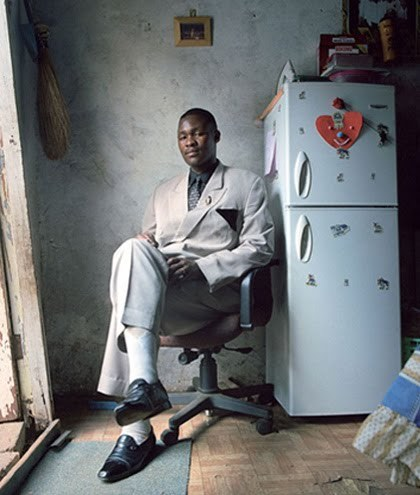 dynamicafrica:  Portraits of some of The Swenkas of Johannesburg, photographed by Marc Shoul, men who dress up every Saturday night, in their Sunday best, and compete in a mixture of fashion of choreography for prizes and prestige. (x)