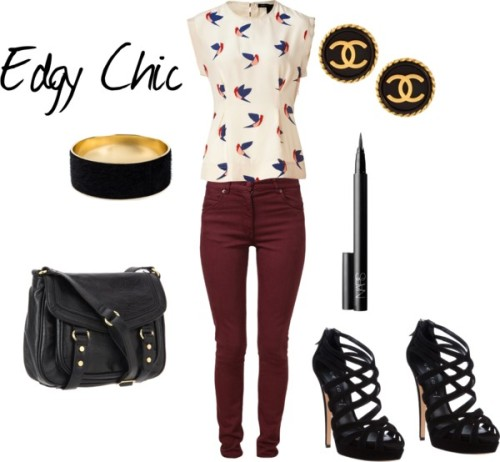 Edgy Chic by dancing-in-destiny featuring a high heel