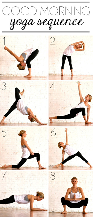 fitnessloveaffair:  Try this yoga routine in the morning to open up and get ready for the day. Source