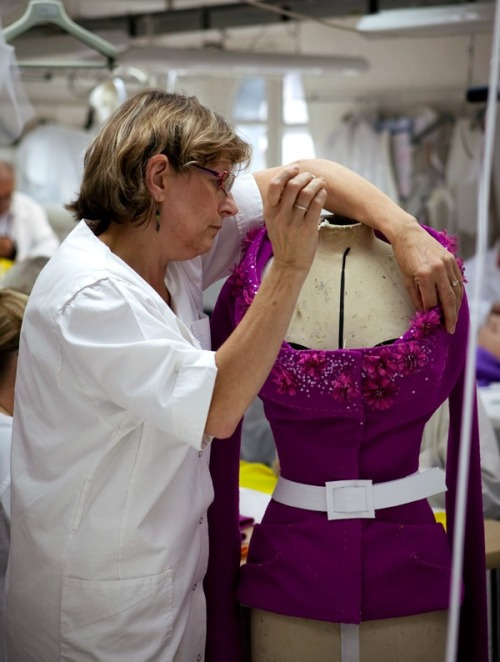 Inside the atelier for Christian Dior haute couture f/w 2009, photographed by James Bort
