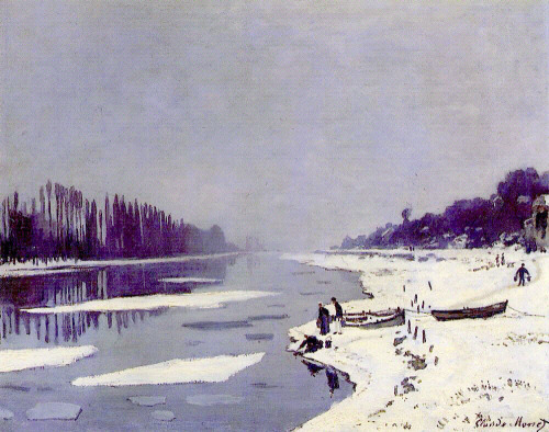 Claude Monet     Ice Floes on the Seine at Bougival