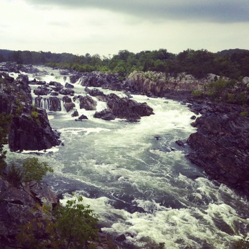 Hiking at Great Falls National Park. (Taken with Instagram)