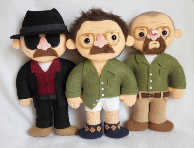 Breaking Bad Plushies exclusive for G88 by ~misscoffee