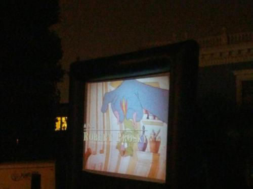 Friends of Duboce Park hosted a Screen on the Green with Mrs. Doubtfire last night … cutest fucking summer Saturday evening activity of all time