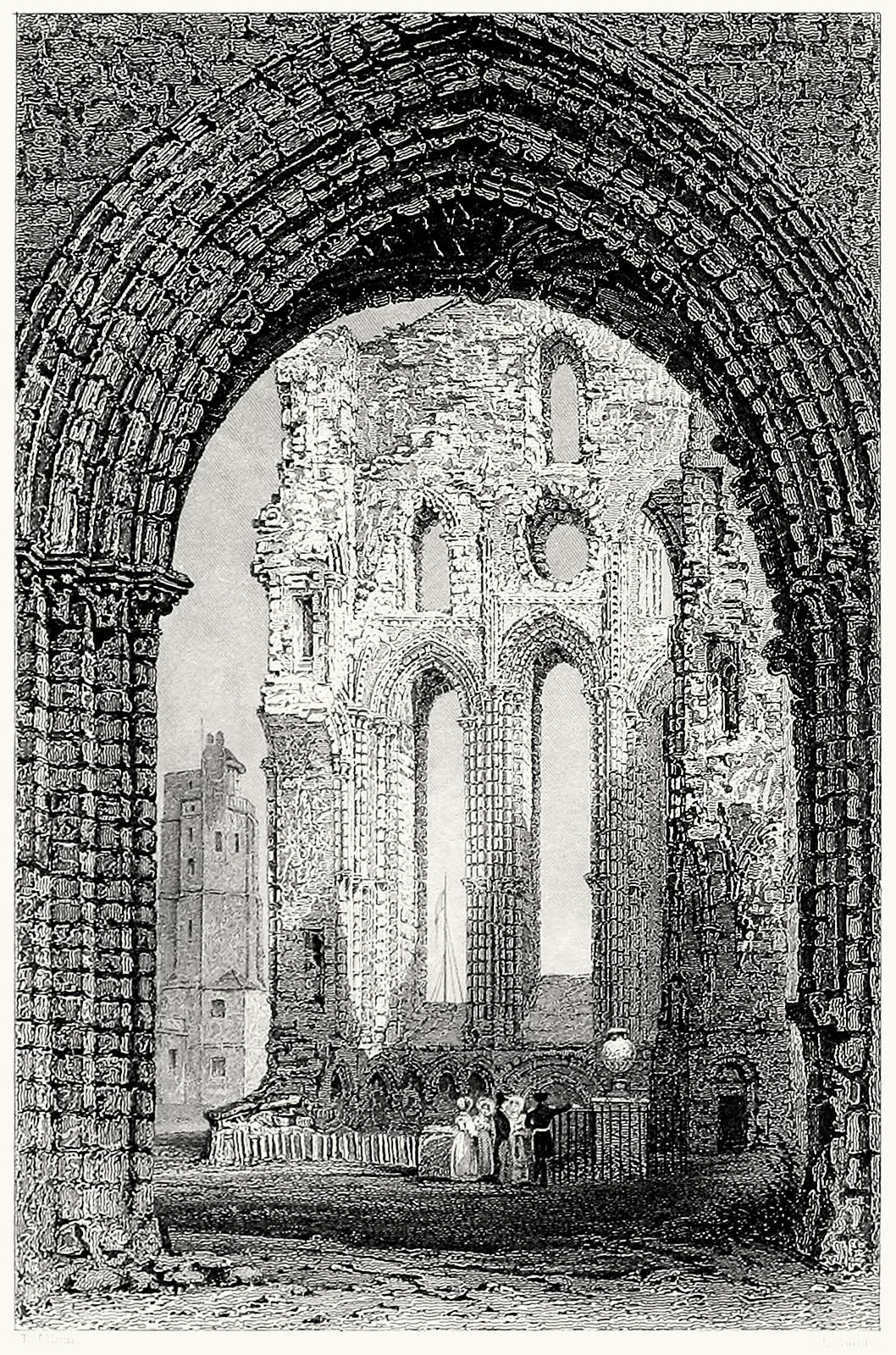 oldbookillustrations:  Tynemouth priory and castle, Northumberland. Thomas Allom, from Westmorland, Cumberland, Durham, and Northumberland, illustrated, by Thomas Rose, London, 1832. (Source: archive.org)