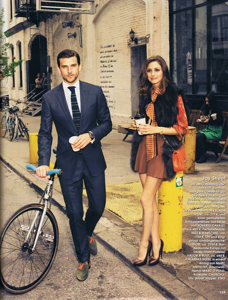 "Magazine: Instyle Germany, September 2012Models: Olivia Palermo and Johannes HueblTopic: ""New York city style""Pictures: Max von Treu"