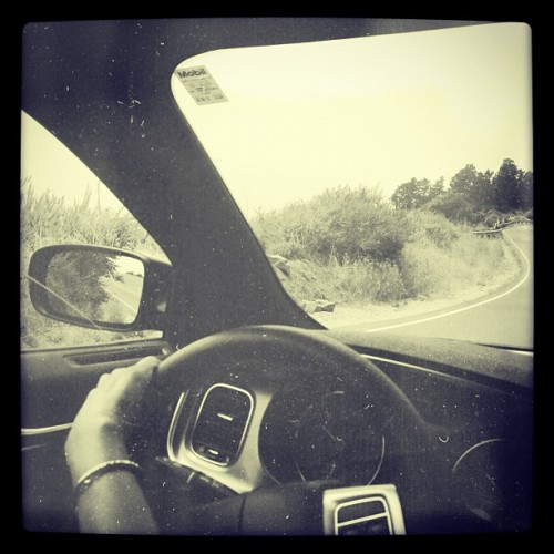 @cnprutting gets a taste of driving the #bigsur  (Taken with Instagram at Julia Pfeiffer Burns State Park)