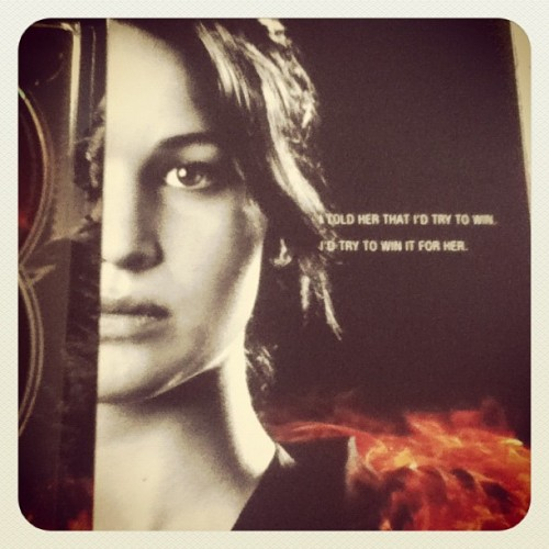 Inside flap, featuring Katniss. #thehungergames (Taken with Instagram)