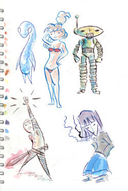 More holiday sketchbook.