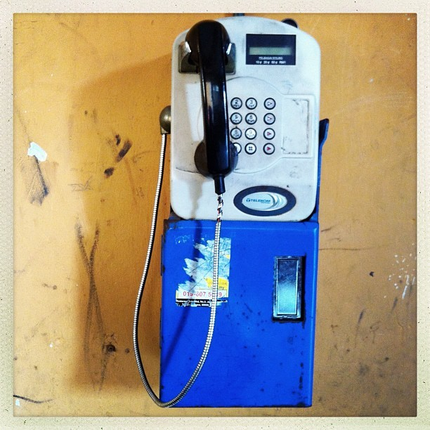 When's the last time you used a #public #phone ? (Taken with Instagram)
