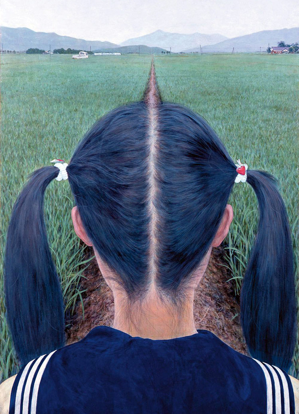 laughingsquid:  A Path Between Rice Fields, A Photorealistic Painting by Makoto Aida