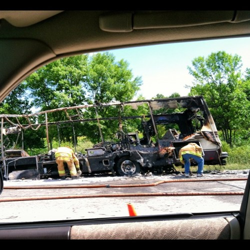 #killitwithfire@I-43/parkinglot (Taken with Instagram)
