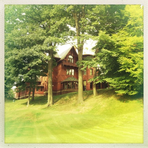 Mark Twain's house in Hartford, CT. Jimmy Lens, Ina's 1982 Film, No Flash, Taken with Hipstamatic