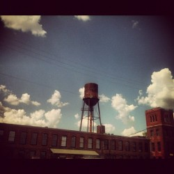 Back in time. #vintage #antique #watertower #brick #building #nashville #tennessee #instagood #photooftheday (Taken with Instagram)