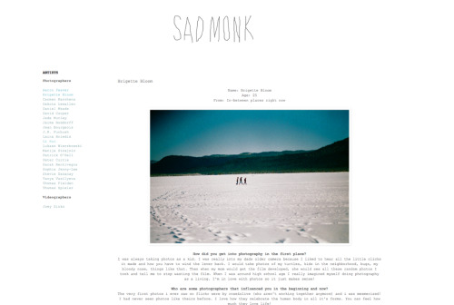 i have a short interview up in sad monk.   here:)