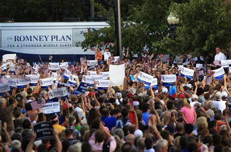 "Report: Romney to release 2011 tax return by Oct. 15 Reuters: A senior campaign adviser said Monday that Mitt Romney will release his 2011 tax return by October 15. ""Romney, a former private equity executive who is one of the richest men ever to run for president, has come under pressure for months from the Obama campaign to release more years of tax returns. He has released his 2010 tax return and estimates for 2011 but does not plan to reveal more years of returns. In April, he requested an extension from the Internal Revenue Service to file his 2011 tax forms, while estimating his tax liability at $3.2 million for last year."" Photo: Romney appears at a campaign rally in Ohio on Aug. 14 (Reuters/Shannon Stapleton)"