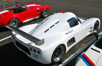 Ultima GTR, racecar with license plates! owned by Jerry Jackson, Sarasota Cafe Racers, it's powered by a high-horsepower small-block Corvette engine. http://www.sarasotacaferacers.com/