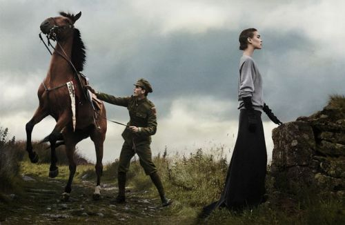 Call In The Cavalry Vogue November 2011 Shot by: David Sims Models: Arizona Muse & Jeremy Irvine